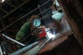 El distribution hall i metallindustrin — Stockfoto