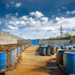 Several barrels of toxic waste — Stock Photo #69844265