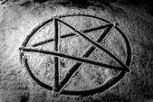 Pentagram closeup photo — Stockfoto