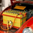 Modified car with large battery — Stock Photo #73330597