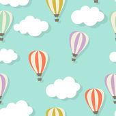 空気風船ベクター グラフィックとレトロなシームレス パターン — ストックベクタ