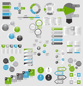 Collection of Infographic Templates for Business Vector Illustra — Vettoriale Stock