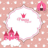 Princess Abstract  Background Vector Illustration. — Stockvector