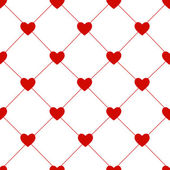 Valentines Day Seamless Hearts Pattern Vector Illustration — Vettoriale Stock