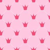 Princess Crown Seamless Pattern Background Vector Illustration — Stock Vector