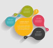 Infographic Templates for Business Vector Illustration. — Vettoriale Stock
