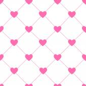Valentines Day Seamless Hearts Pattern Vector Illustration — Stock Vector