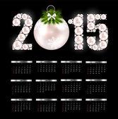 New Year Calendar 2015. Vector Illustration — Stock Vector