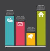 Modelli di infografica per illustrazione vettoriale d'affari. — Vettoriale Stock