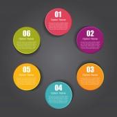 инфографические шаблоны для деловой векторной иллюстрации. — Cтоковый вектор