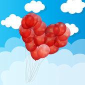 Balloon  Heart Vector Illustration Background — Stock Vector