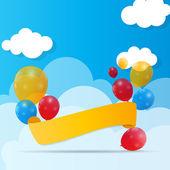 Tło wektor ilustracja kolor błyszczący balony — Wektor stockowy