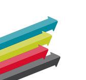 商务矢量图的图表模板. — 图库矢量图片