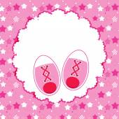 Vector Illustration of Pink Baby Shoes for Newborn Girl — Vector de stock