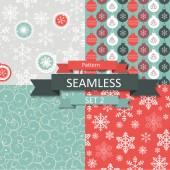 Astratto bellezza Natale e anno nuovo modello Seamlss Set — Vettoriale Stock