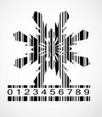 Barcode Snowflake  Image Vector Illustration — Stockvektor