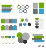 Samling infographic mallar för business vektor illustra — Stockvektor