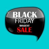 Black Friday Sale Icon Vector Illustration — Vecteur
