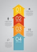 Infographic mallar för business vektor illustration. — Stockvektor
