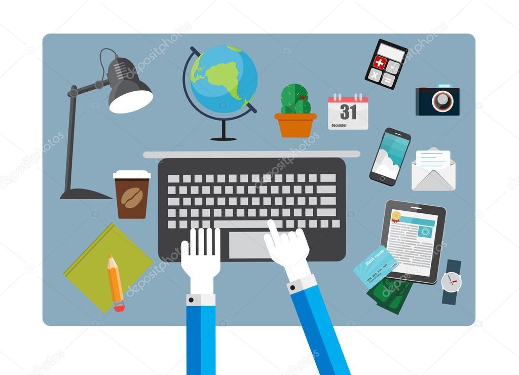 Trabajo lugar oficina moderna interiores dise o plano for Empleos en oficinas