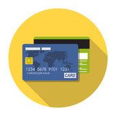 Credit Card Icon Flat Concept Vector Illustration — ストックベクタ