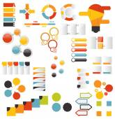 Collection of Infographic Templates for Business Vector Illustration — Stockvektor