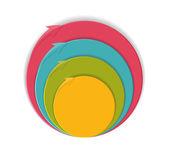 Plantillas infográficas para la ilustración vectorial de negocios. — Vector de stock