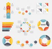 ビジネス ベクトル アイスのインフォ グラフィック テンプレートのコレクション — ストックベクタ