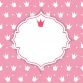 Princess Crown  Background Vector Illustration. — Stock Vector