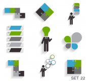 Collection of Infographic Templates for Business Vector Illustra — Stockvector