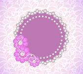 Romantic Flower Frame — Stock Vector