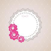 Romantic Flower Vintage Invitation Card Vector Background — Stok Vektör