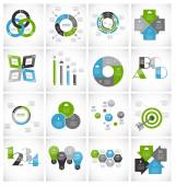Collection of Infographic Templates for Business Vector Illustration — Stock Vector