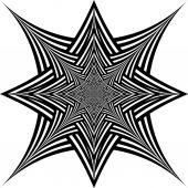 Black and white hypnotic background. — Stock vektor
