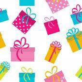 Gift Box Holiday Seamless Pattern Background Vector Illustration — 图库矢量图片