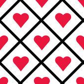 Saint-Valentin coeurs sans couture modèle vector illustration — Vecteur