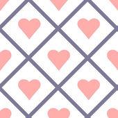 валентина сердца бесшовные шаблон векторные иллюстрации — Cтоковый вектор