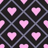 Valentine Seamless Hearts Pattern Vector Illustration — Stock Vector