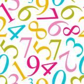 Numbers Seamless Pattern Background Vector Illustration — Vetor de Stock