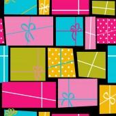 Gift Box Holiday Seamless Pattern Background Vector Illustration — Vetor de Stock