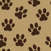 Animal Paw Seamless Pattern Background Vector Illustration — Stock Vector