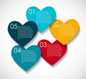 Love Infographic Templates for Business Vector Illustration. EPS — Stockvektor