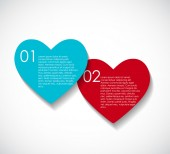 Love Infographic Templates for Business Vector Illustration. EPS — Stock Vector