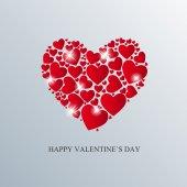 Valentine Day Card with Heart Vector Illustration — Stockvektor