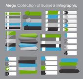 Modèles d'infographie pour affaires vector illustration. — Vecteur