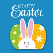 Happy Easter Background Vector Illustration — Stock Vector