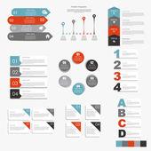 Collection de modèles d'infographie pour l'illustration vectorielle affaires — Vecteur