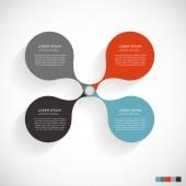 инфографика шаблоны для бизнеса — Cтоковый вектор