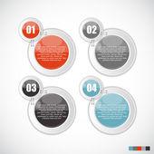 Infográfico modelos para negócios — Vetor de Stock