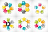 Infografía plantillas para negocios — Vector de stock